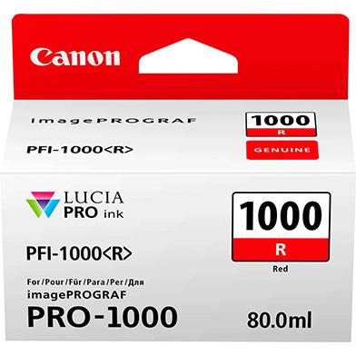 Canon PFI-1000R Red Ink Cartridge (935 Photos)