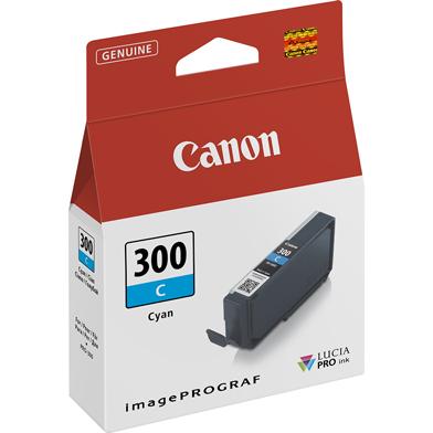 "Canon 4194C001 PFI-300C Cyan Ink Cartridge (735 4x6"" Photos)"