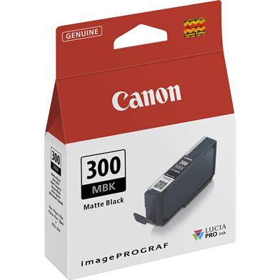 "Canon 4192C001 PFI-300MBK Matte Black Ink Cartridge (1,750 4x6"" Photos)"