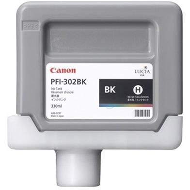 Canon 2216B001AA PFI-302BK Black Ink Cartridge (330ml)