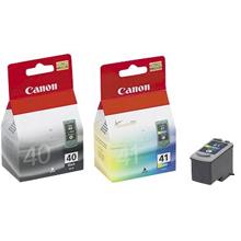 Canon 0615B036 PG40/CL-41 Black & Tri-Colour Multi Pack Ink Cartridge K (350 Pages) CMY (312 Pages)