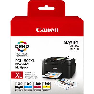 Canon 9182B004 PGI-1500XL CMYK Ink Cartridge Multipack