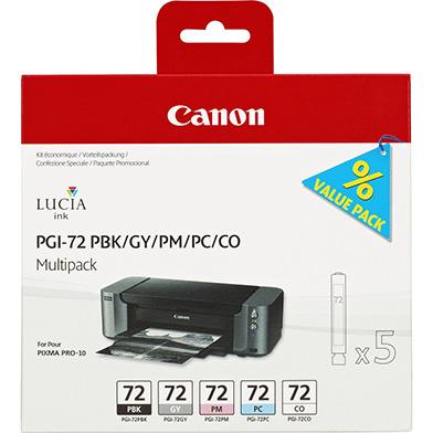 Canon 6403B007 PGI-72 5 Ink Cartridge Multipack (PBK + GY + PM + PC + CO)