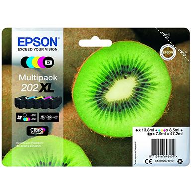 Epson C13T02G74010 202XL Claria Premium Ink Multipack