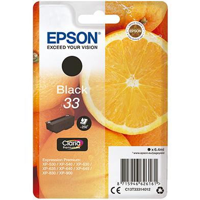 Epson C13T33314012 Black No.33 Ink Cartridge (250 Pages)