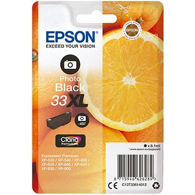 Epson C13T33614012 Photo Black No.33XL Ink Cartridge (400 Pages)