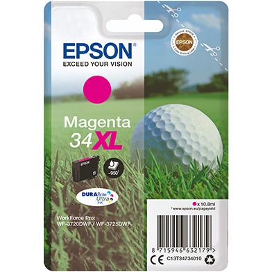 Epson C13T34734010 Magenta 34XL DURABrite Ultra Ink Cartridge (950 Pages)