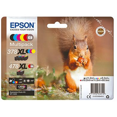 Epson 378XL + 478XL Ink Cartridge Multipack
