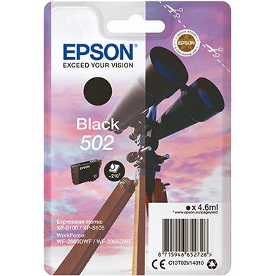 Epson C13T02V14010 502 Black Ink Cartridge (210 Pages)