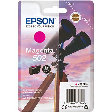 Epson C13T02V34010 Magenta 502 Ink Cartridge (160 Pages)
