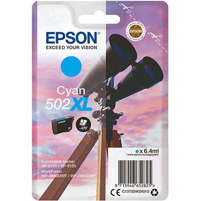 Epson C13T02W24010 Cyan 502XL Ink Cartridge (470 Pages)