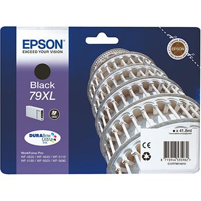 Epson C13T79014010 79XL Black Ink Cartridge (2,600 Pages)