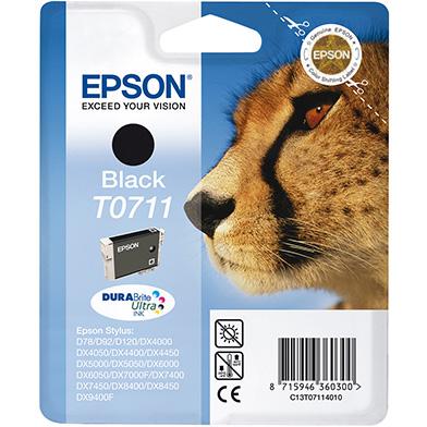 Epson C13T07114010 Black T0711 Ink Cartridge (250 Pages)