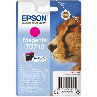 Epson Magenta T0713 Ink Cartridge (5.5ml)