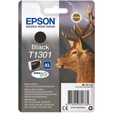 Epson C13T13014012 Black T1301 Ink Cartridge (1000 Pages)