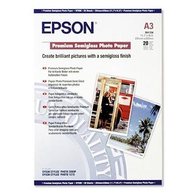 Epson C13S041334 Premium Semigloss Photo Paper - 251gsm (A3 / 20 Sheets)