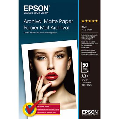 Epson C13S041340 Archival Matte Paper - 189gsm (A3+ / 50 Sheets)