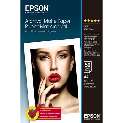 Epson C13S041342 Archival Matte Paper - 189gsm (A4 / 50 Sheets)