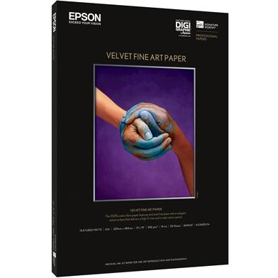 Epson C13S041637 Velvet Fine Art Paper - 260gsm (A3+ / 20 Sheets)