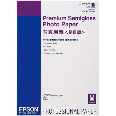Epson C13S042093 Premium Semi-Gloss Photo Paper - 250gsm (A2 / 25 Sheets)