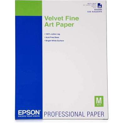 Epson C13S042096 Velvet Fine Art Paper - 260gsm (A2 / 25 Sheets)