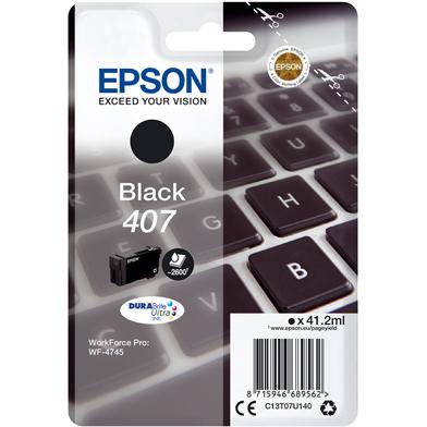 Epson C13T07U140 Black Ink Cartridge (2,600 Pages)