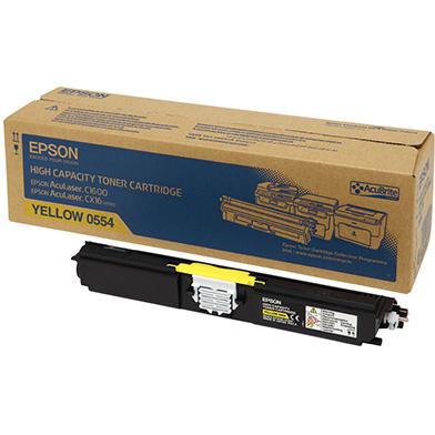 Epson C13S050554 Hi-Cap Yellow Toner Cartridge (2,700 Pages)