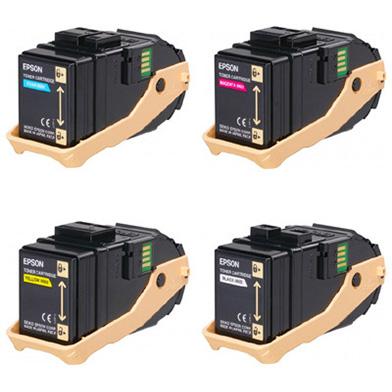 Epson EPSC9300VAL Toner Cartridge Value Pack CMY (7.5K Pages) K (6.5K Pages)