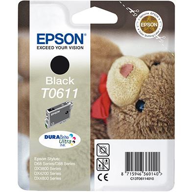 Epson C13T06114010 Black T0611 Ink Cartridge (8ml)