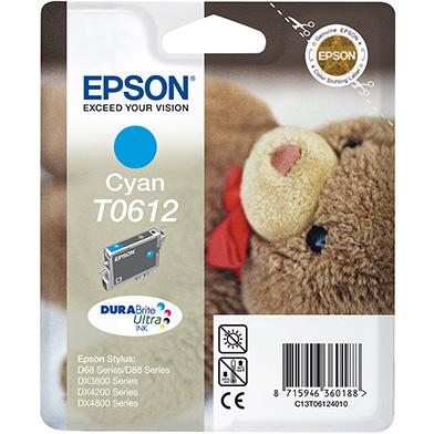 Epson C13T06124010 Cyan T0612 Ink Cartridge (8ml)