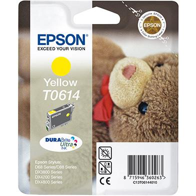 Epson C13T06144010 Yellow T0614 Ink Cartridge (8ml)