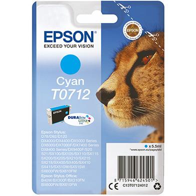 Epson C13T07124012 Cyan T0712 Ink Cartridge (5.5ml)