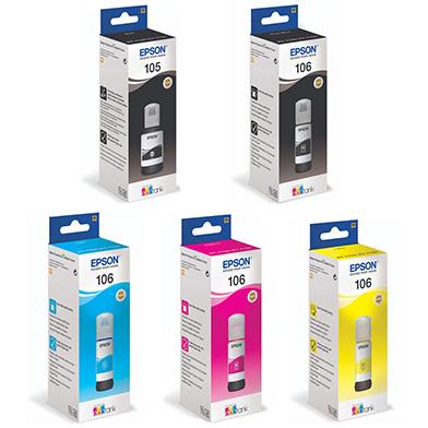 Epson 5 Colour Ink Bottle Value Pack (1,900 Photos)