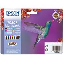 Epson C13T08074011 T0807 6-Colour Multipack (6 x 7.4ml)