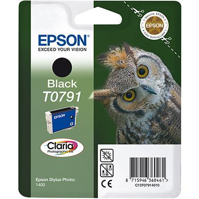 Epson C13T07914010 Black T0791 Ink Cartridge (470 Pages)