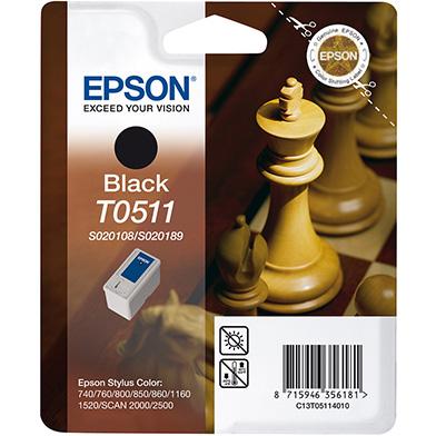 Epson C13T05114010 Black T0511 Ink Cartridge (24ml)