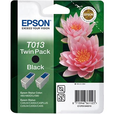 Epson C13T01340210 Black T013 Ink Cartridge Twin Pack (2 x 10ml)