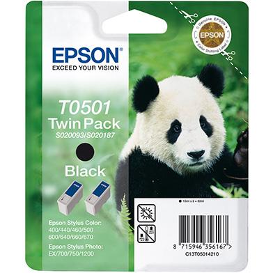 Epson C13T05014210 Black T050 Ink Cartridge Twin Pack (2 x 15ml)