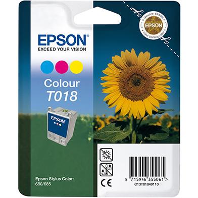 Epson C13T01840110 T018 3 Colour Ink Cartridge (37ml)