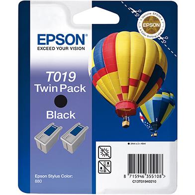 Epson C13T01940210 Black T019 Ink Cartridge Twin Pack (2 x 24ml)