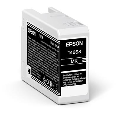 Epson C13T46S800 T46S8 Matte Black UltraChrome Pro 10 Ink Cartridge (25ml)