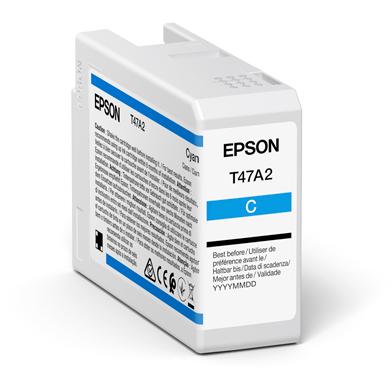 Epson C13T47A200 T47A2 Cyan UltraChrome Pro 10 Ink Cartridge (50ml)