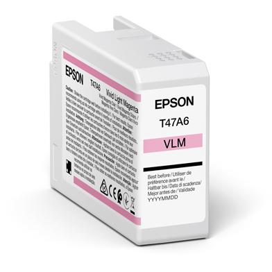 Epson C13T47A600 T47A6 Vivid Light Magenta UltraChrome Pro 10 Ink Cartridge (50ml)