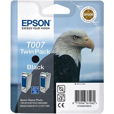 Epson C13T00740210 Black T007 Ink Cartridge Twin Pack (2 x 16ml)