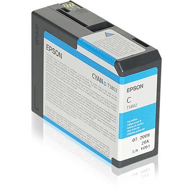 Epson C13T580200 Cyan T5802 Ink Cartridge (80ml)