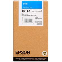 Epson C13T611200 Cyan T6112 Ink Cartridge (110ml)