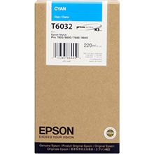 Epson C13T603200 Cyan T6032 Ink Cartridge (220ml)