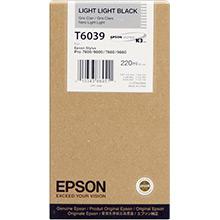 Epson C13T603900 Light Light Black T6039 Ink Cartridge (220ml)