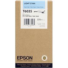 Epson C13T603500 Light Cyan T6035 Ink Cartridge (220ml)