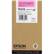 Epson C13T603600 Vivid Light Magenta T6036 Ink Cartridge (220ml)